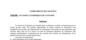 Les aspects légaux de la fusion
