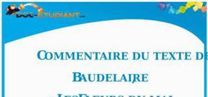 Commentaire de texte : « Les Fleurs du mal » de Baudelaire