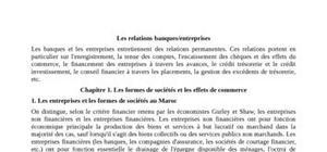 Les relations banques/entreprises