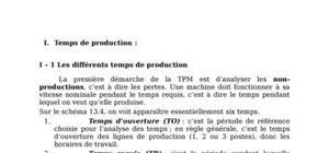 temps de production