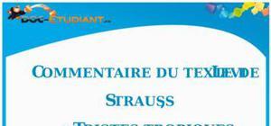 Commentaire de texte : « Tristes Tropiques » de Levi Strauss