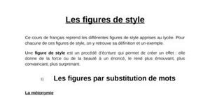 Les figures de style