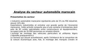 Le secteur de l'automobile