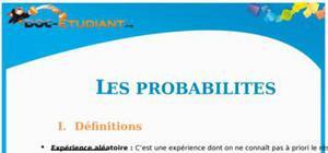 Les Probabilités : Cours Terminale ES