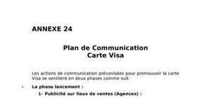 Plan de communication/lancement de la carte visa