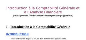 Introduction à la comptabilité générale et à l'analyse financière