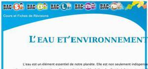 Eau - Eau et environnement : Cours Terminale S