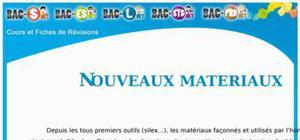 Matériaux - Nouveaux matériaux : Cours Terminale S