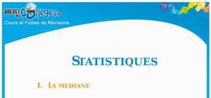 Les statistiques : Fiche de révision Brevet