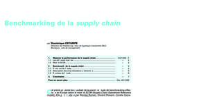 Benchmarking de la supply chain