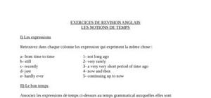 Notions de temps - english