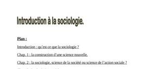 Introduction en sociologie