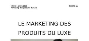 Marketing des produits de luxe