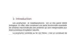 Metallation de porphyrine