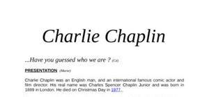 Charlie chaplin biographie