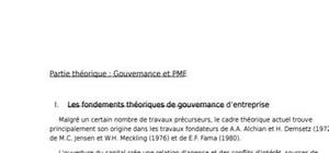 Document: gouvernance et pme