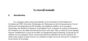 Le nomadisme au travail
