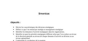 Les stratégies et les décisions stratégiques