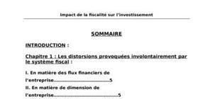 La fiscalité et l'investissement au maroc