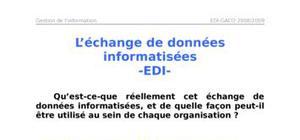 L'échange de données informatisées -edi-