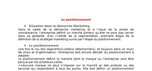 Positionnement en marketing