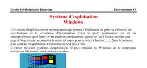 Systeme d'exploitation windows