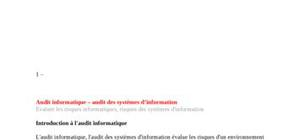 Audit informatique- audit des si