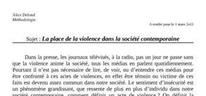 La place de la violence dans les sociétés contemporaines