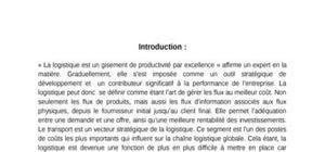 La logistique et le transport au maroc: problèmes et perspectives