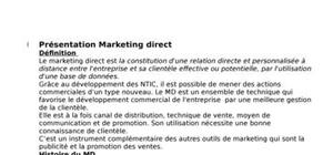 Marketing direct au maroc