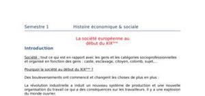 La société européenne au début du xixe siècle