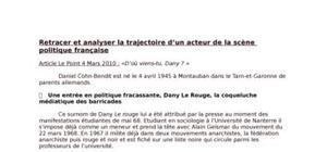 Dany le rouge : parcours d un acteur de la scene politique francaise