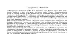 La bourgeoisie au xixème siècle