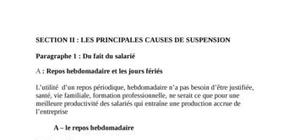 Les principales causes de suspension