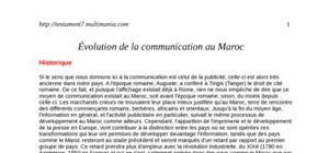 Évolution de la communication au maroc