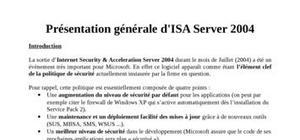 Isa 2004 présentation générale