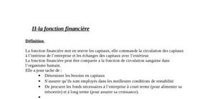La fonction financiére