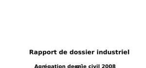 Dossier industriel - agrégation de génie civil