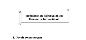 Techniques de négociation en commerce international