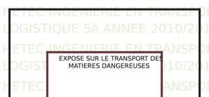 Infrastructures de transport de matières dangereuses