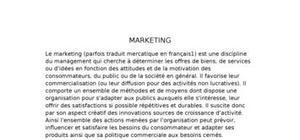 Le marketing : fonction dans l'entreprise