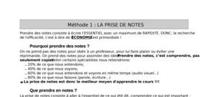 Comment prendre des notes?