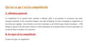 Compétitivité et concurrence