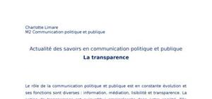 La transparence en communication politique