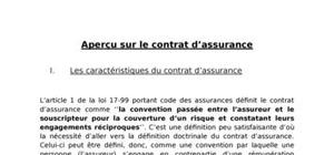 Aperçu sur le contrat d'assurances au maroc