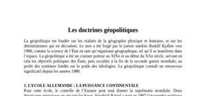 Les doctrines geopolitiques