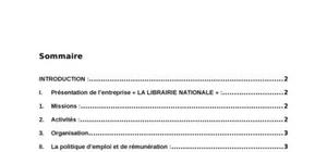 Gestion des ressources humaines: « la librairie nationale » :
