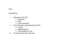 Le fmi et la crise financière internationale