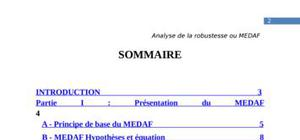 1evaluation de la robustesse du medaf