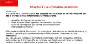 La civilisation industrielle